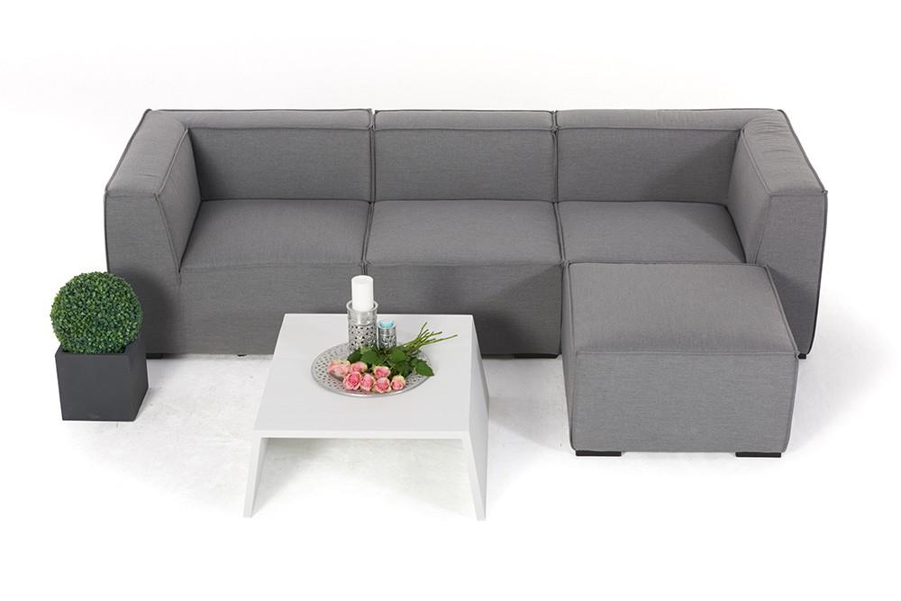 allwetter outdoor lounge wasserfeste gartenm bel adriane grau wetterfest. Black Bedroom Furniture Sets. Home Design Ideas