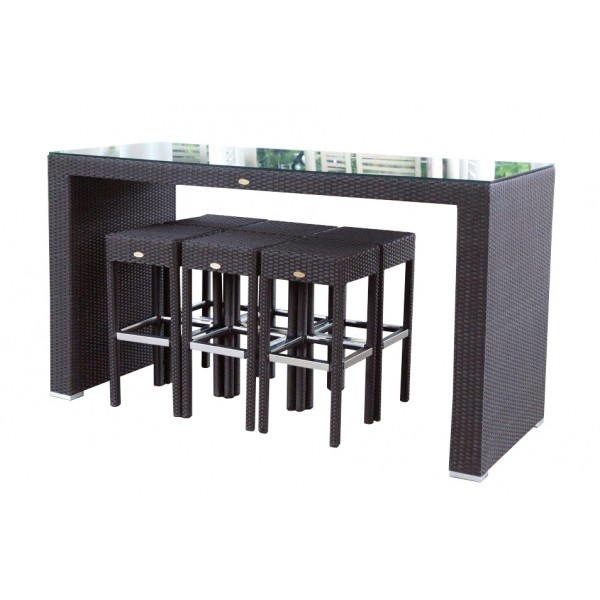 rattan gartenm bel rattan bar dining braun. Black Bedroom Furniture Sets. Home Design Ideas