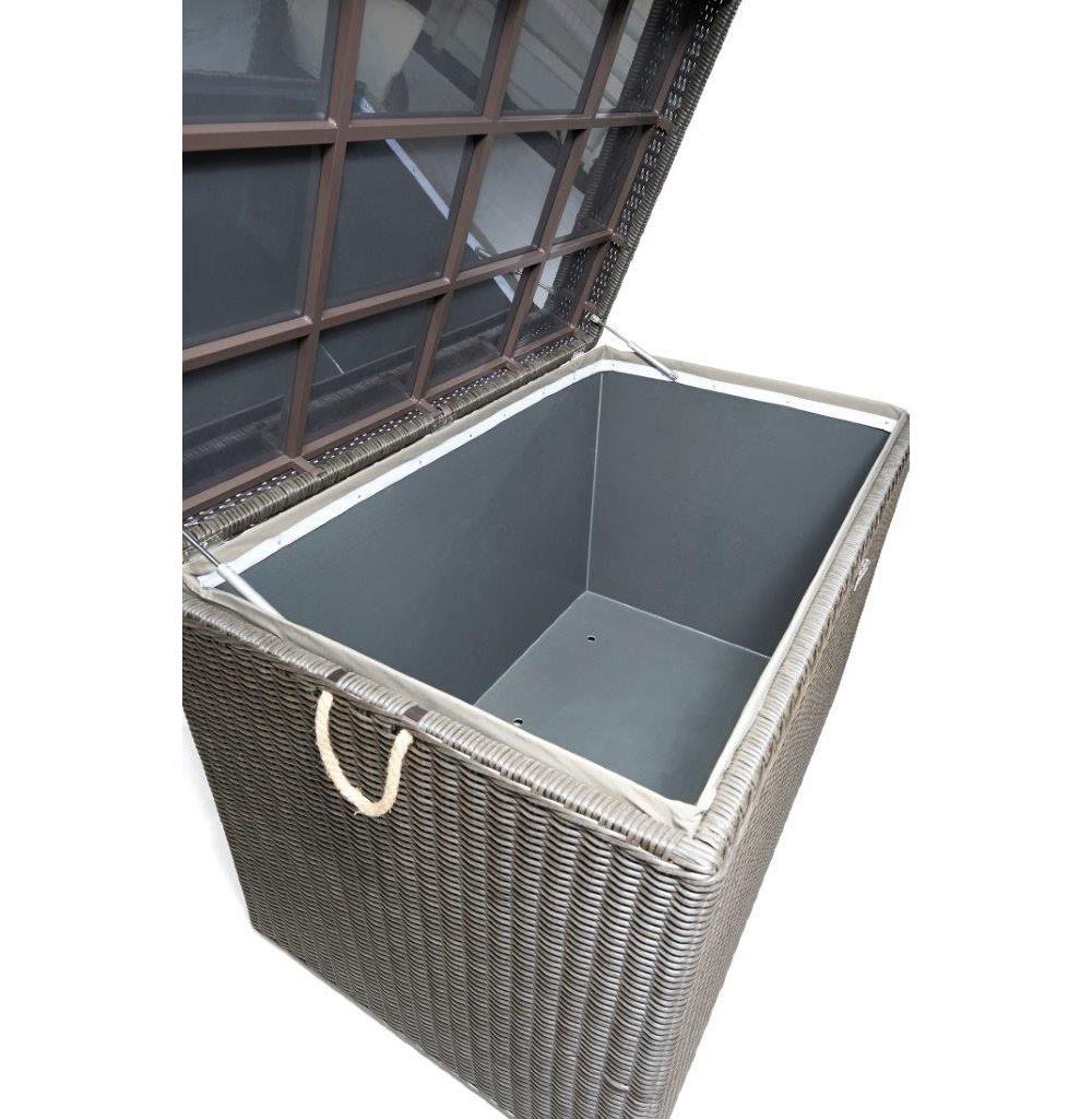 Auflagenbox Polyrattan Braun Wasserdicht Sd Hitoiro Lj With