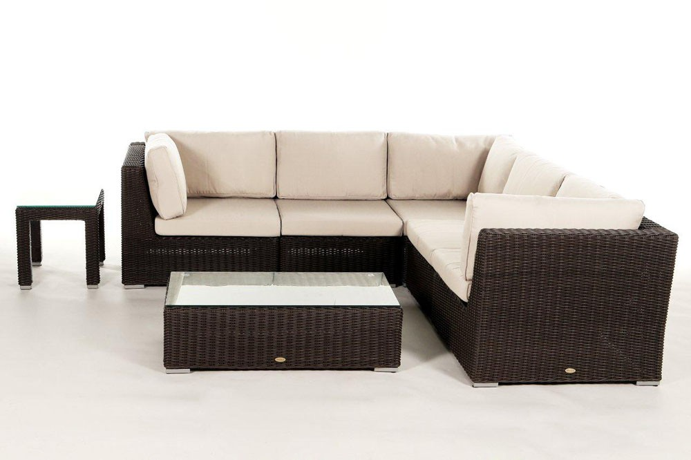 rattan gartenm bel lounge birmingham in braun f r. Black Bedroom Furniture Sets. Home Design Ideas