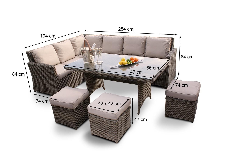 Gartenmöbel - Tischset - Eckbank Broadway Rattan Lounge Dining ...