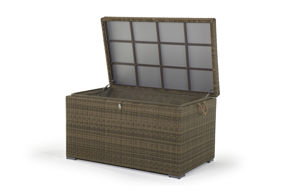 Gartenmobel Rund Gunstig : Rattan Gartenmöbel Kissenbox Pillowbox Broadway Gross Natural Round