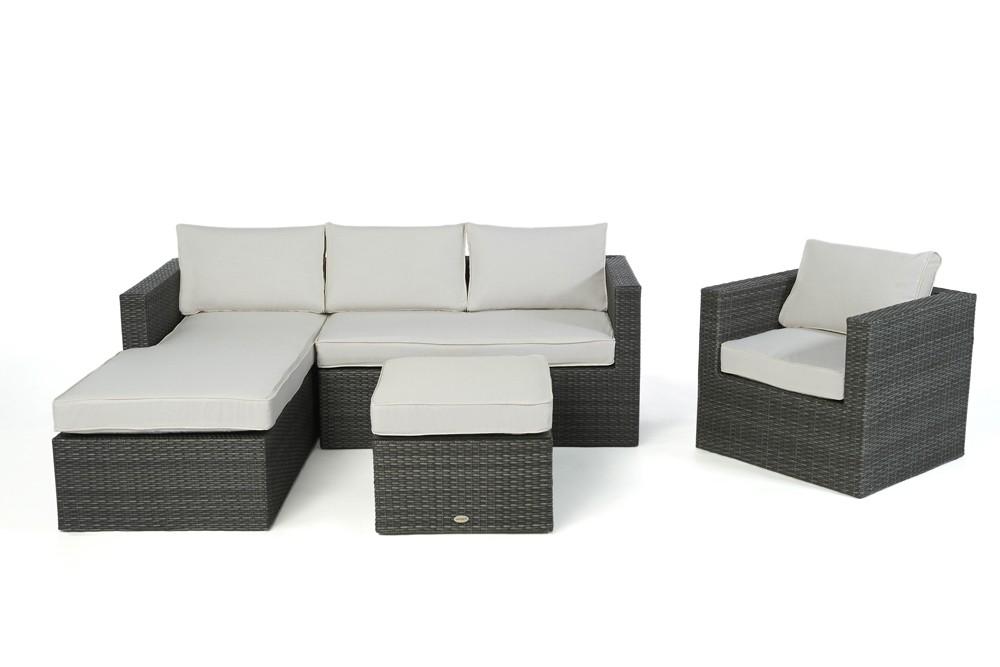 Rattan lounge brooklyn das gartenm bel set f r terrasse for Lounge gartenmobel rattan