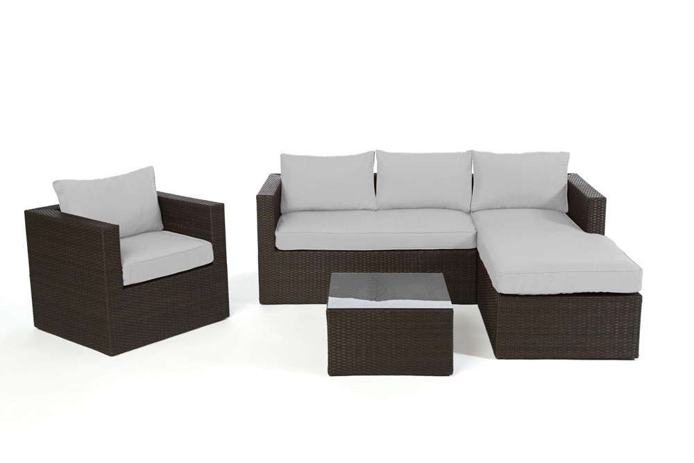 gartenm bel rattan lounge berzug polsterbez ge verschiedene farben brooklyn. Black Bedroom Furniture Sets. Home Design Ideas
