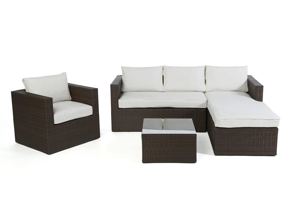 Rattan Lounge Brooklyn - Das Gartenmöbel Set für Terrasse und Garten