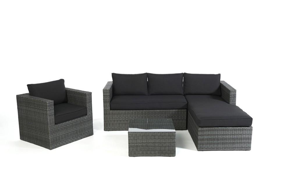 Rattan lounge schwarz grau  Gartenmöbel - Rattan Lounge - Überzug - Polsterbezüge - verschiedene ...