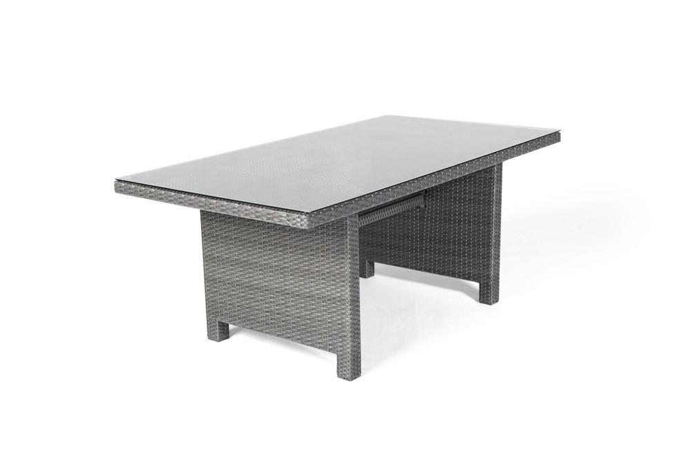 ellis rattan lounge gartenm bel tisch set mix grau. Black Bedroom Furniture Sets. Home Design Ideas