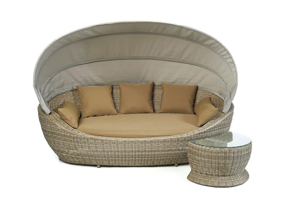 rattan sofa sonnenliege dreamland wundersch nes gartenm bel. Black Bedroom Furniture Sets. Home Design Ideas