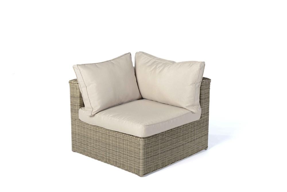 rattan lounge gartenm bel panda natural round. Black Bedroom Furniture Sets. Home Design Ideas