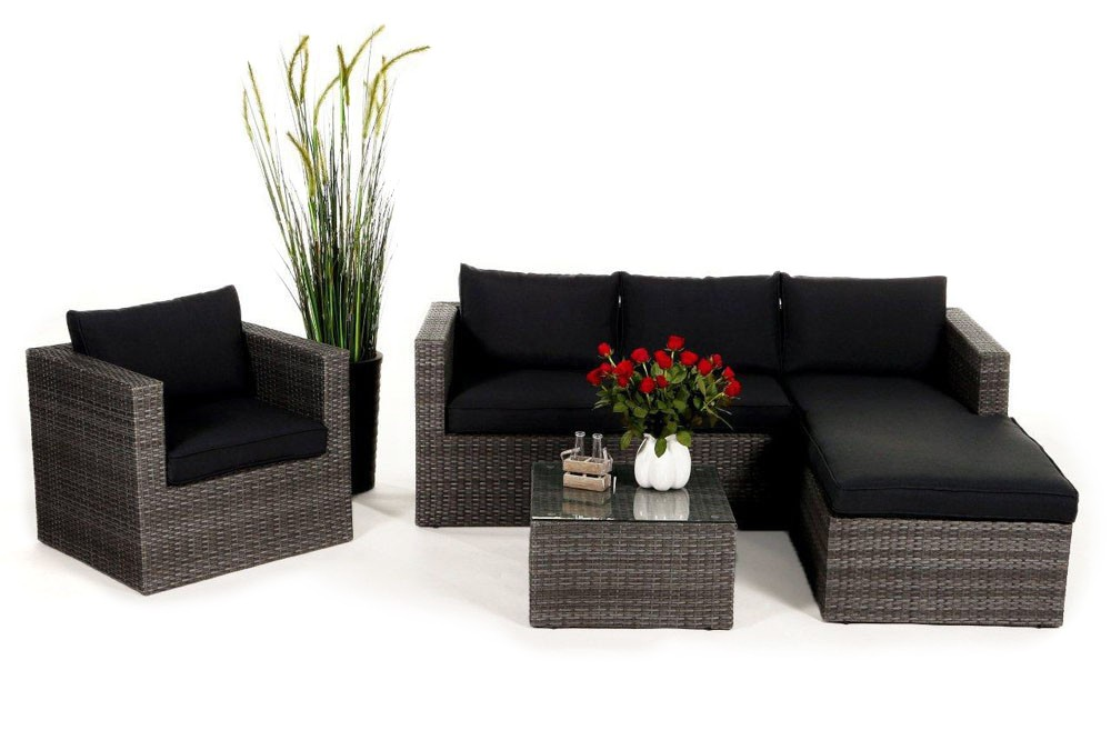 rattan lounge brooklyn das gartenm bel set f r terrasse. Black Bedroom Furniture Sets. Home Design Ideas