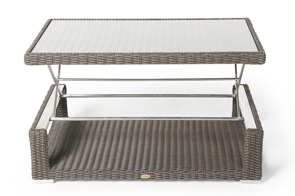 Hohenverstellbare Loungetische Rattan Lounge Mit Hohenverstellbarem