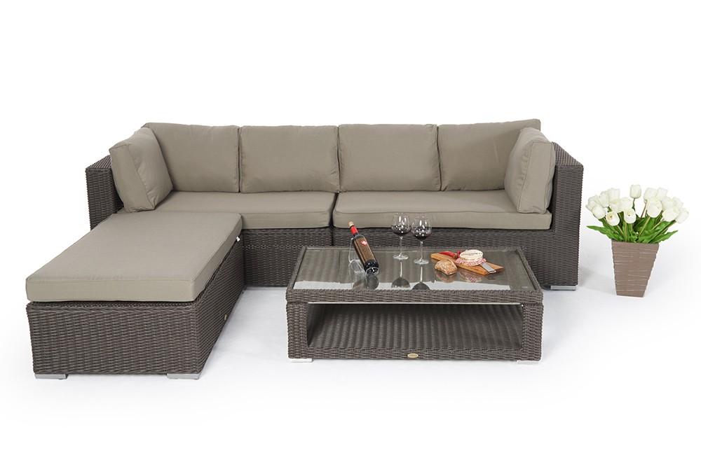 h henverstellbare loungetische rattan lounge mit h henverstellbarem rattan tisch. Black Bedroom Furniture Sets. Home Design Ideas