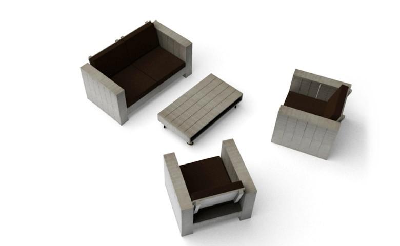 Cuba Lounge - Edles Gartenmöbelset aus Kiefernholz
