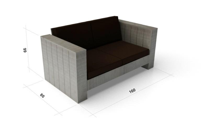 cuba lounge edles gartenm belset aus kiefernholz. Black Bedroom Furniture Sets. Home Design Ideas