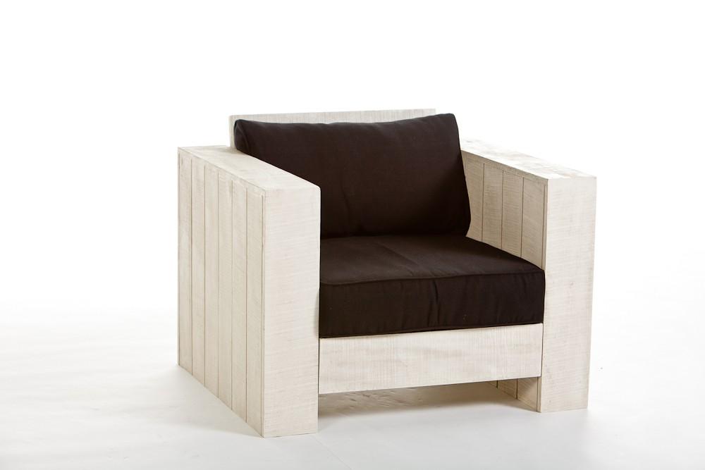 Teak Corner Gartenmobel : Holz Gartenmöbel Lounge Sessel aus Kiefernholz Cuba old white