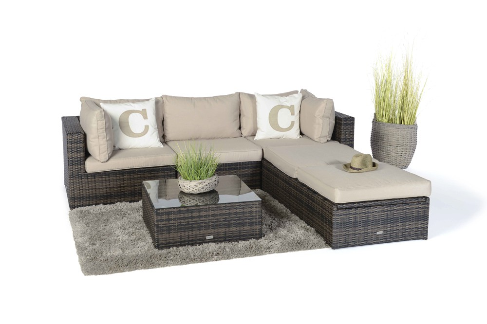 rattan lounge gartenm bel kuala braun. Black Bedroom Furniture Sets. Home Design Ideas