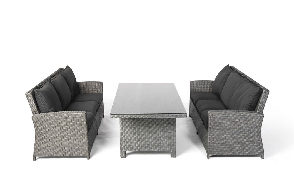 lounge gartenmobel rattan grau