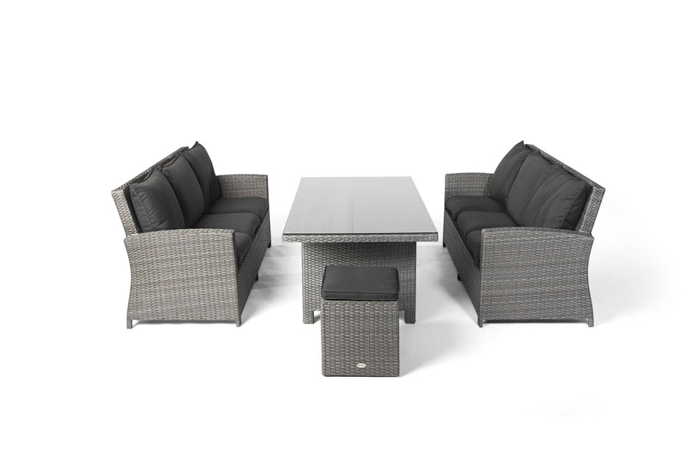 lea rattan lounge gartenm bel tisch set mix grau. Black Bedroom Furniture Sets. Home Design Ideas