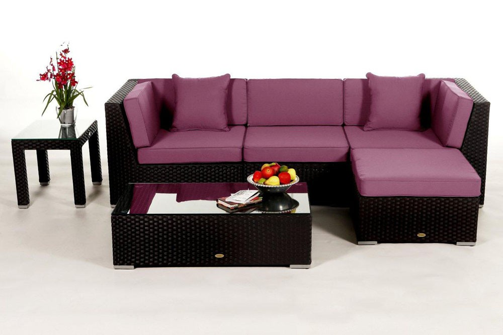 Gartenmöbel set rattan schwarz  Leonardo Lounge in Schwarz - Rattan Gartenmöbel Set für Terrasse ...