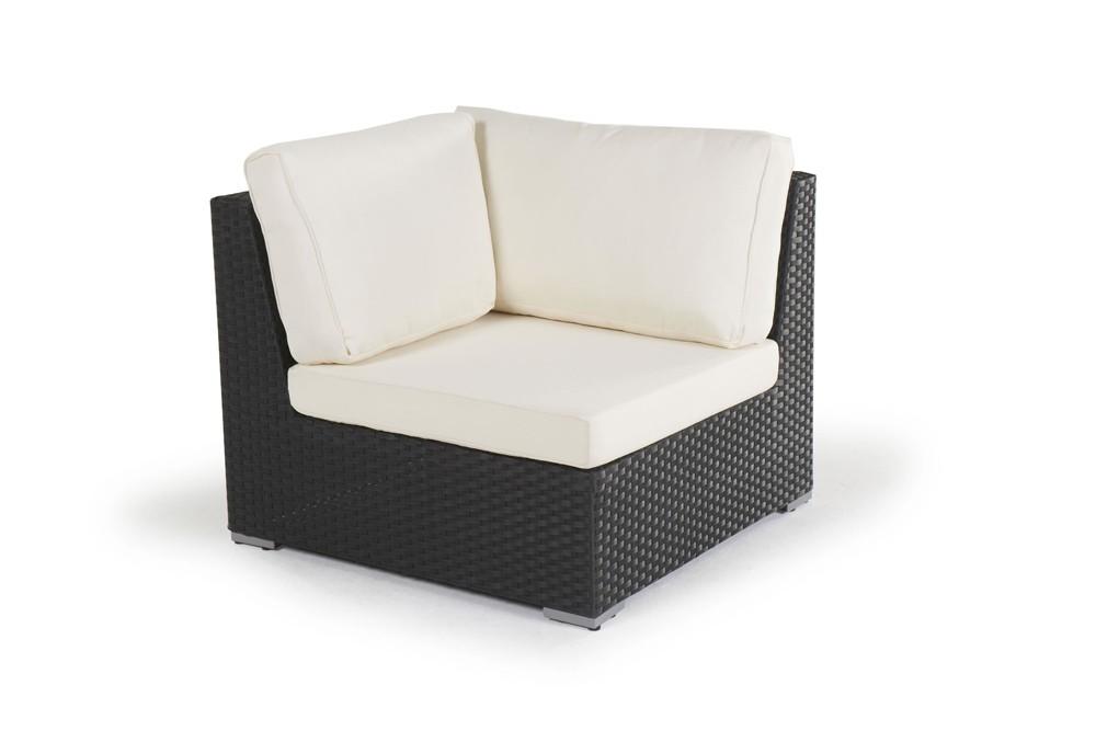rattan lounge long beach gartenm bel set schwarz. Black Bedroom Furniture Sets. Home Design Ideas
