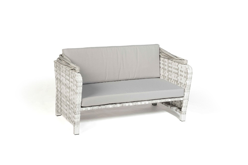 rattan lounge chair sonnenliege lorena grau weiss. Black Bedroom Furniture Sets. Home Design Ideas