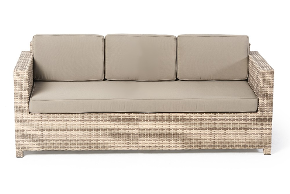 Rattan Gartenmöbel Lounge Luxury Deluxe 3er Sofa Natural