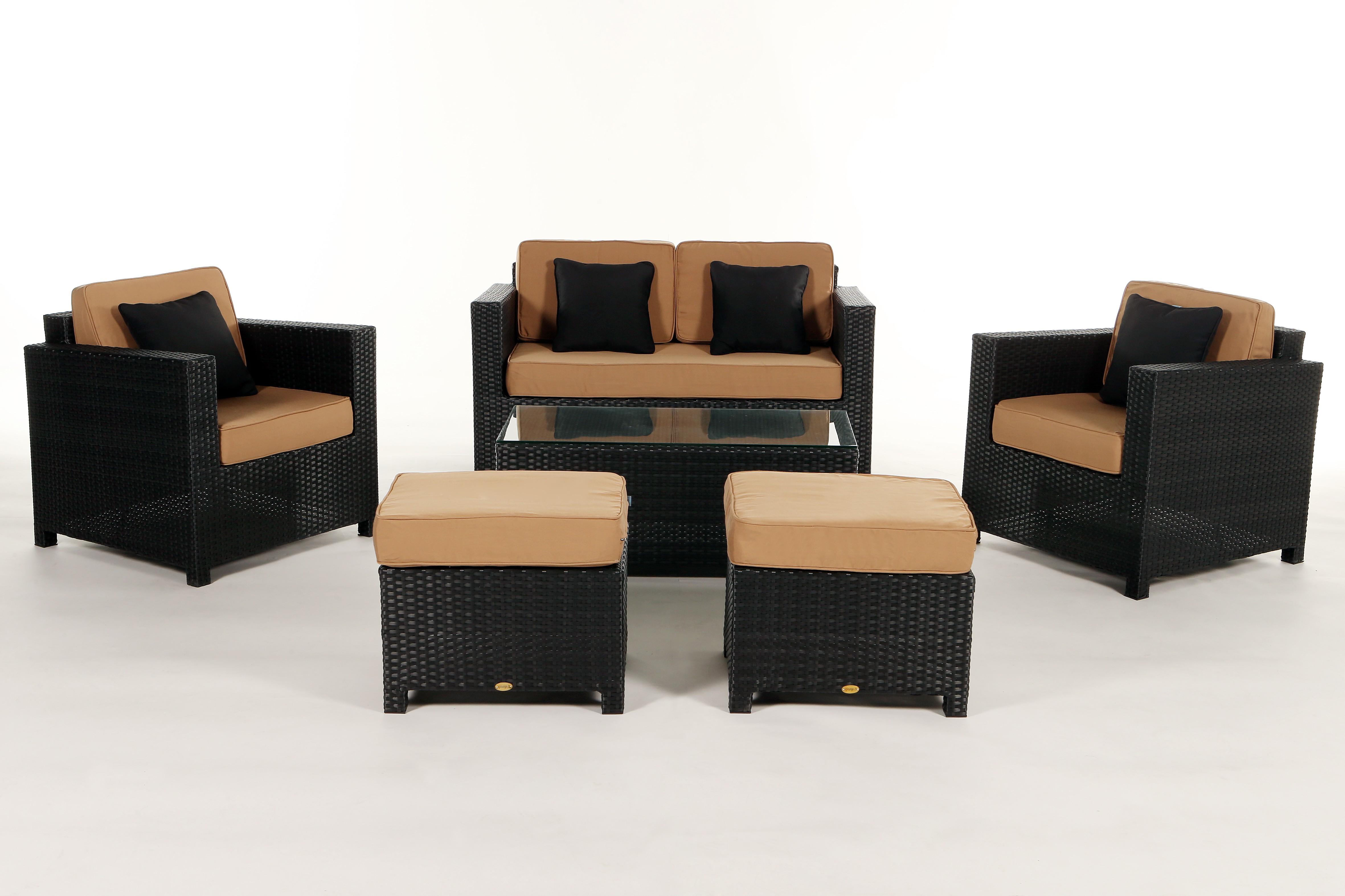 Luxury Deluxe Braun - Das Gartenmöbelset für Terrasse und Garten
