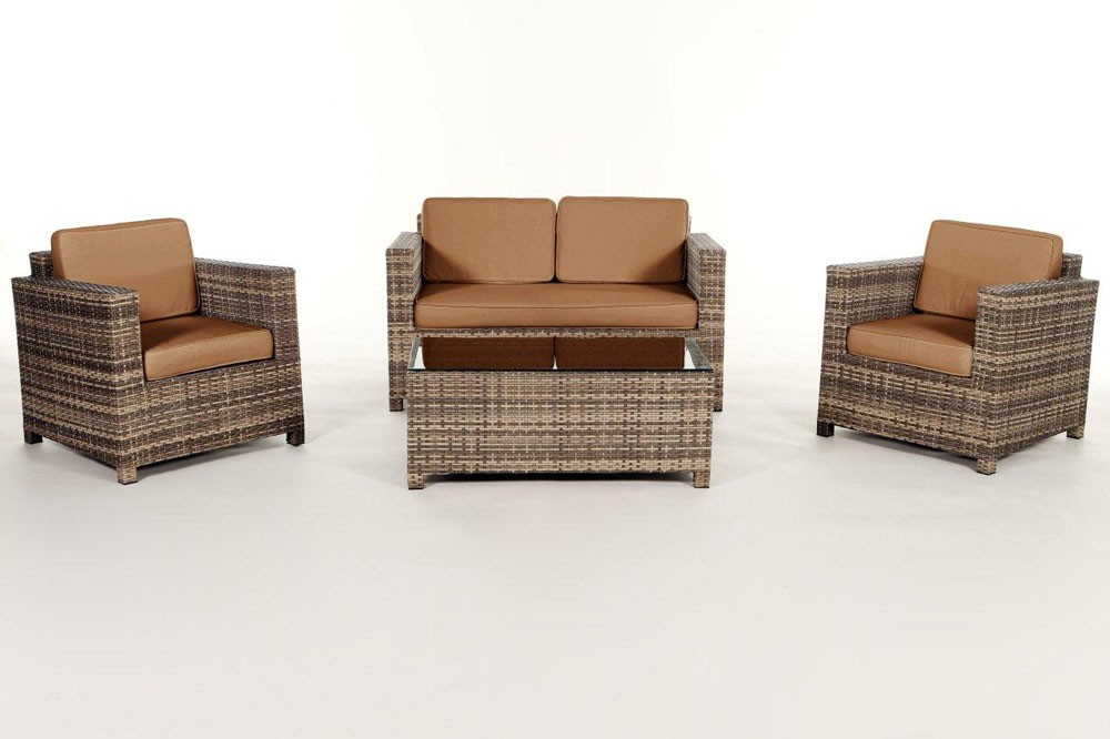 rattan gartenm bel lounge sitzgruppe luxury natural. Black Bedroom Furniture Sets. Home Design Ideas