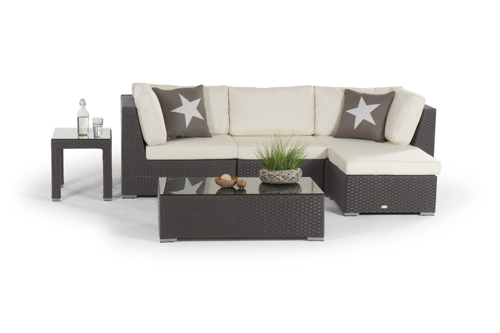 rattan lounge melrose gartenm bel set braun. Black Bedroom Furniture Sets. Home Design Ideas