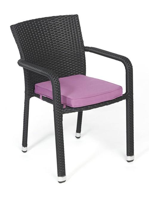 miami rattan stuhl rattan gartenm bel polsterbez ge verschiedene farben. Black Bedroom Furniture Sets. Home Design Ideas