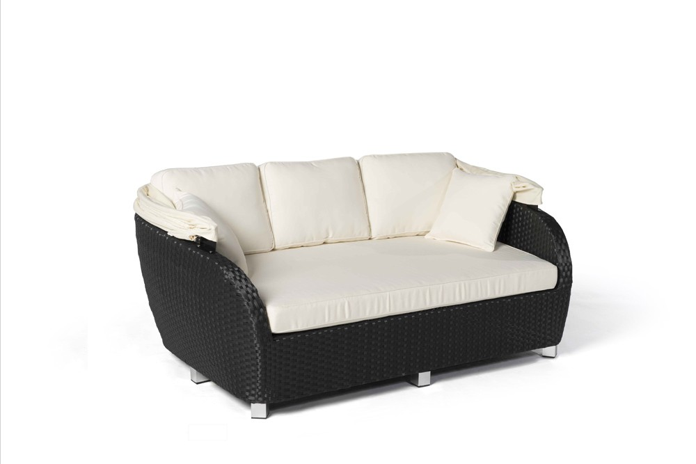 rattan sofa sonnenliege moonshine schwarz. Black Bedroom Furniture Sets. Home Design Ideas