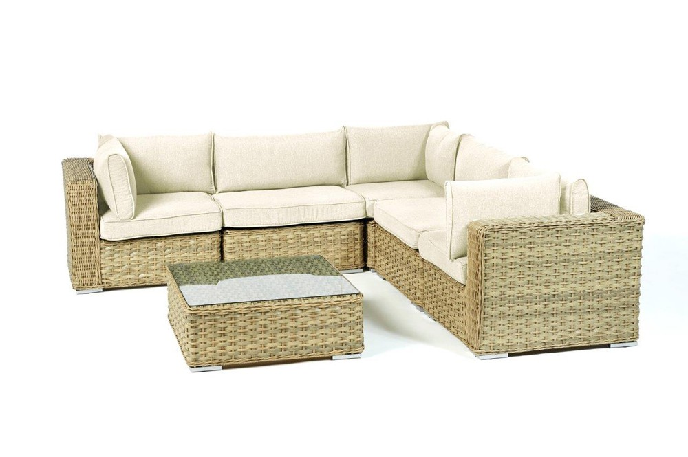 rattan gartenm bel lounge mykonos in sand f r terrasse. Black Bedroom Furniture Sets. Home Design Ideas