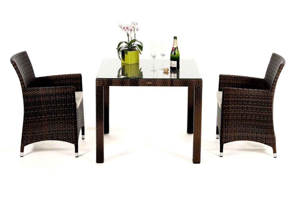 rattan gartenm bel garten tisch und st hle nairobi 90 mixed braun. Black Bedroom Furniture Sets. Home Design Ideas