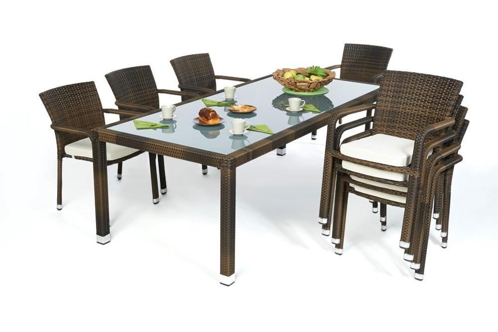 rattan gartenm bel garten tisch und st hle orlando 220 mix. Black Bedroom Furniture Sets. Home Design Ideas