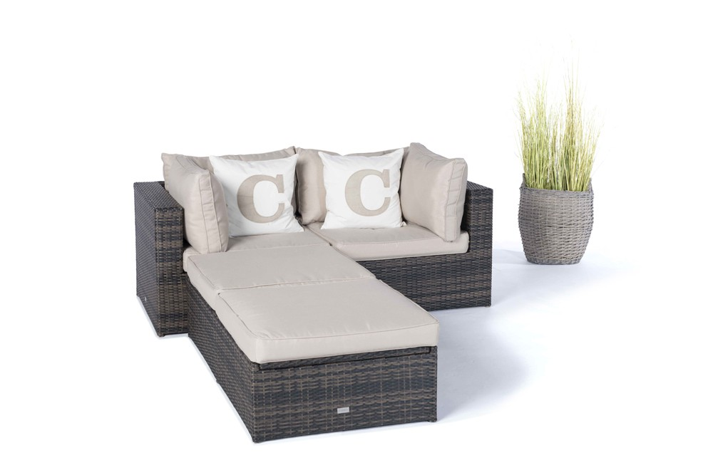 rattan lounge gartenm bel panda braun. Black Bedroom Furniture Sets. Home Design Ideas
