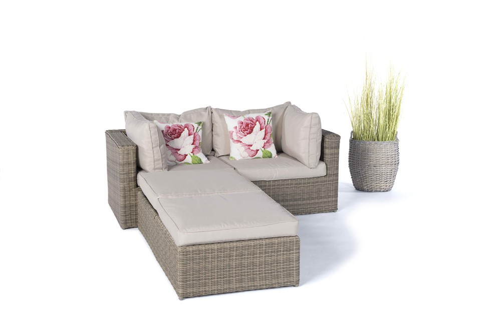 rattan lounge gartenm bel panda natural round. Black Bedroom Furniture Sets. Home Design Ideas