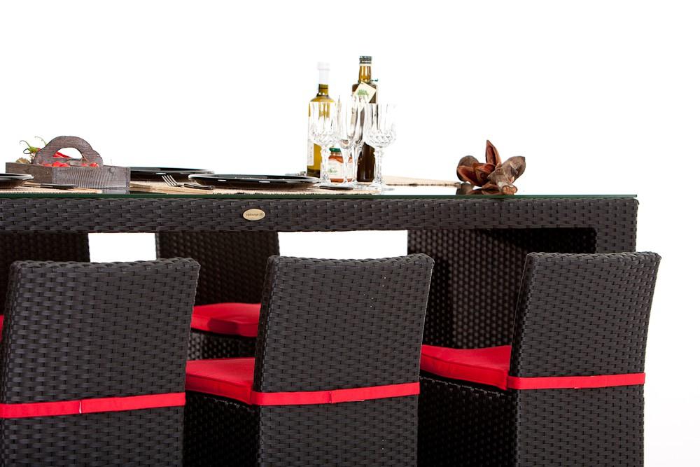 rattan gartenm bel rattan bar vip braun und schwarz. Black Bedroom Furniture Sets. Home Design Ideas
