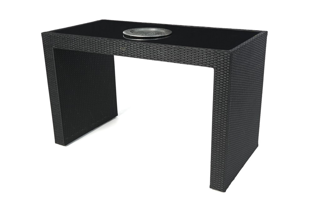 rattan gartenm bel rattan bar black glass schwarz. Black Bedroom Furniture Sets. Home Design Ideas