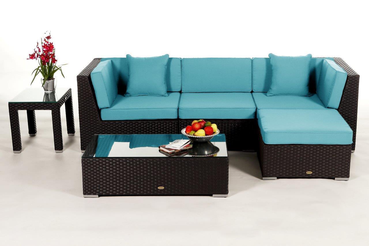 leonardo lounge in braun rattan gartenm bel set f r terrasse garten oder balkon. Black Bedroom Furniture Sets. Home Design Ideas