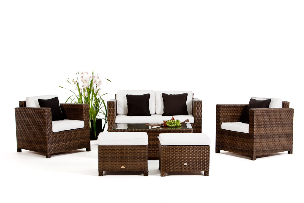 luxury deluxe braun das gartenm belset f r terrasse und garten. Black Bedroom Furniture Sets. Home Design Ideas