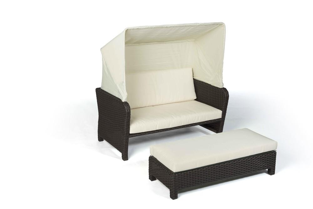 rattan lounge chair sonnenliege lorena braun. Black Bedroom Furniture Sets. Home Design Ideas