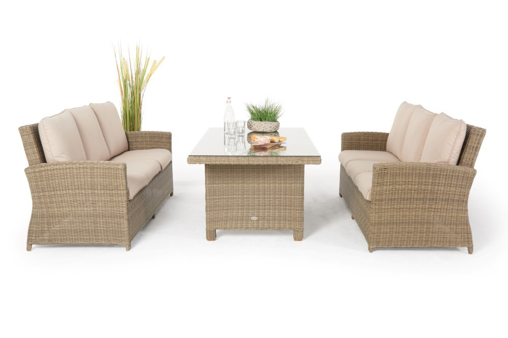 rattan lounge dining rattan loungetisch lea deluxe natural. Black Bedroom Furniture Sets. Home Design Ideas