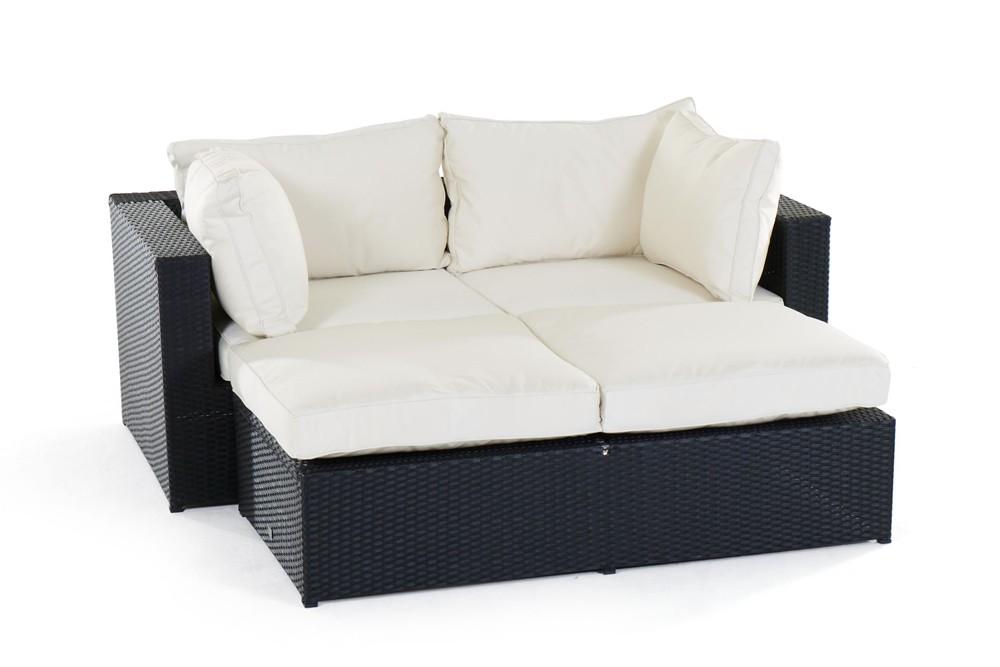 Rattan lounge gartenm bel panda schwarz for Gartenmobel rattan lounge