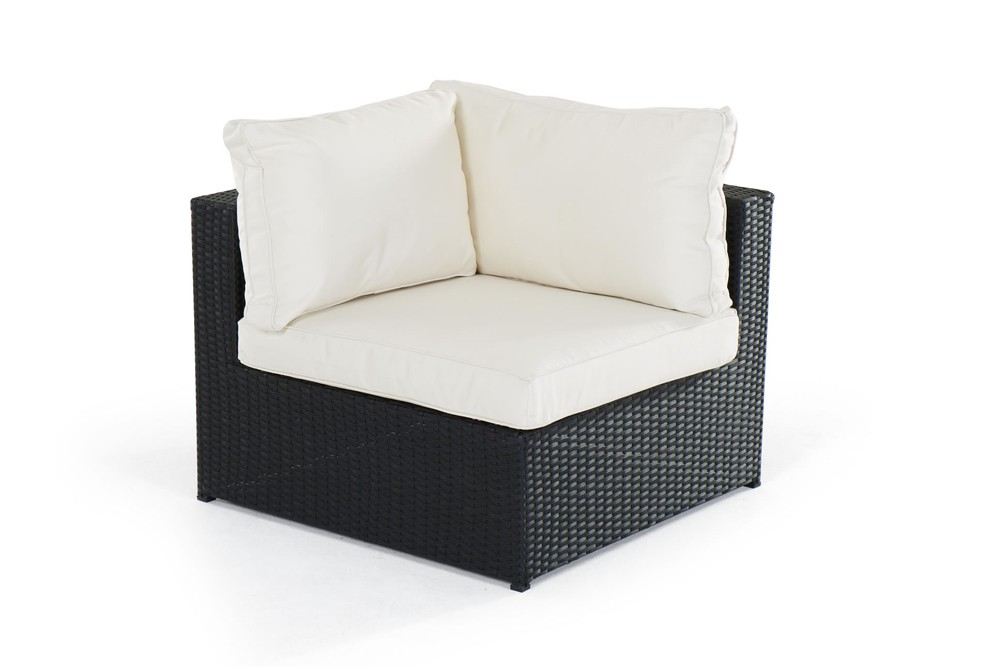 rattan lounge gartenm bel panda schwarz. Black Bedroom Furniture Sets. Home Design Ideas