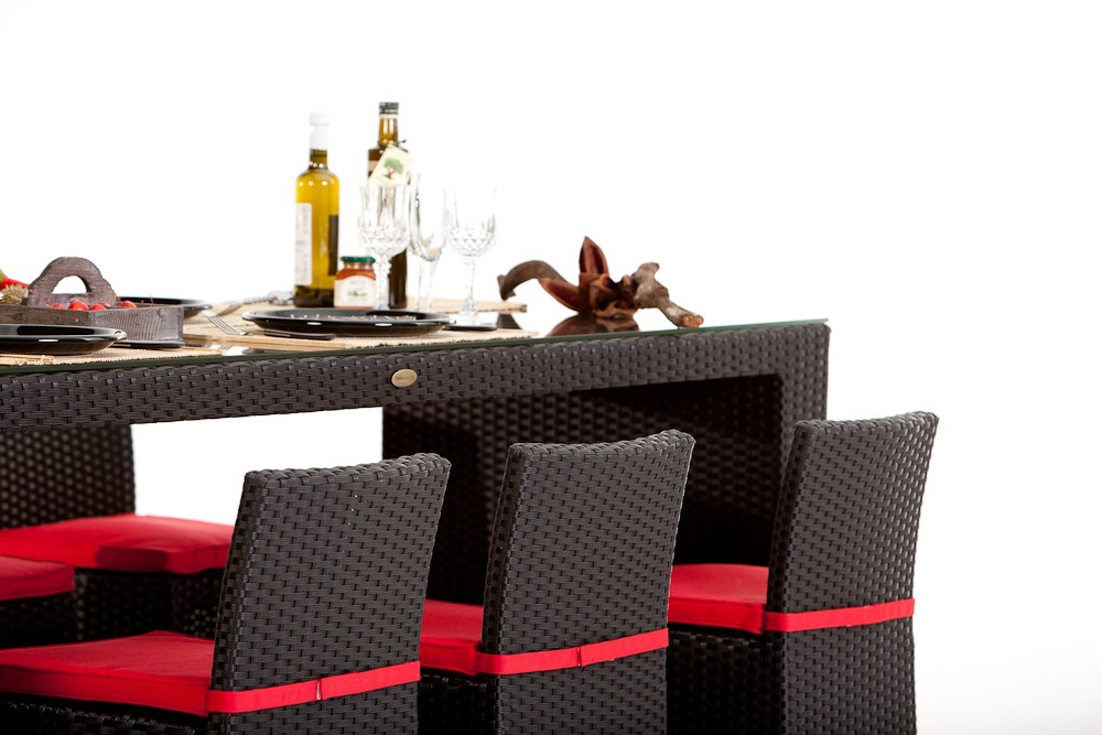 rattan gartenm bel bar mit hocker. Black Bedroom Furniture Sets. Home Design Ideas