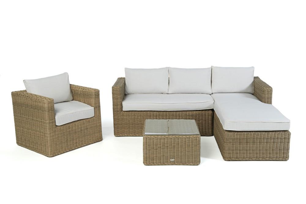 Rattan lounge brooklyn das gartenm bel set f r terrasse for Gartenmobel lounge