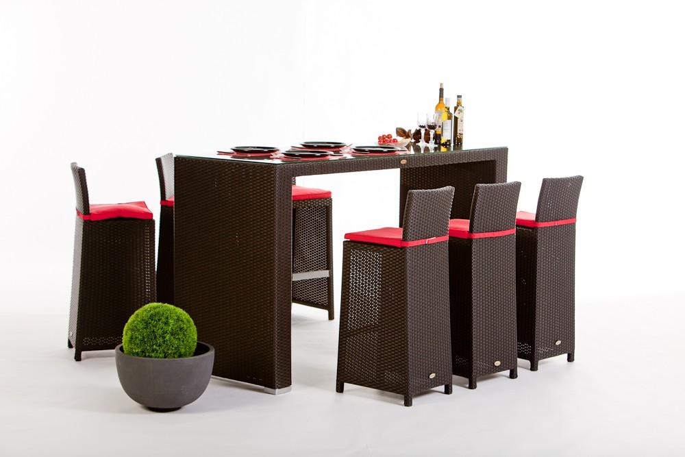 Rattan Gartenmöbel Rattan Bar VIP braun und schwarz