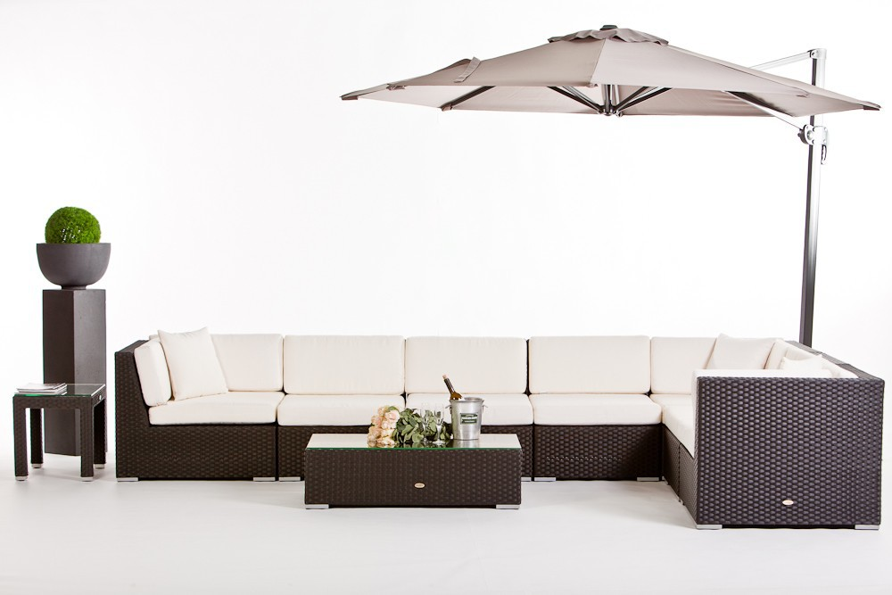 rattan lounge bermuda gartenm belset f r die openair. Black Bedroom Furniture Sets. Home Design Ideas