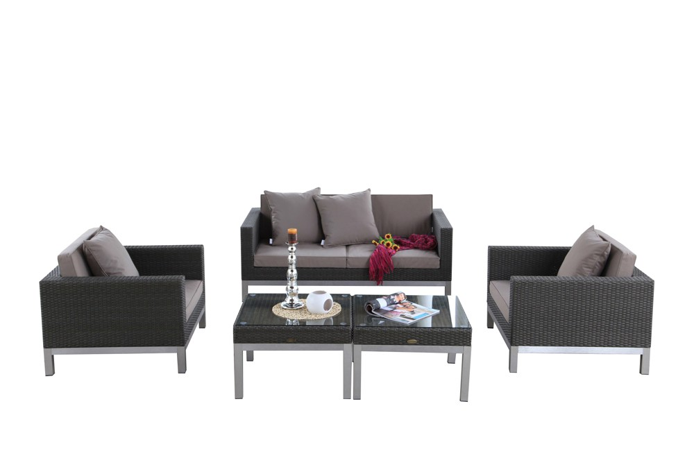 rattan lounge sunshine das gartenm bel set f r terrasse. Black Bedroom Furniture Sets. Home Design Ideas