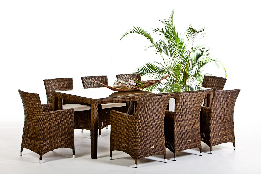 rattan gartenm bel rattan tische und st hle nairobi dining 220 mixed braun. Black Bedroom Furniture Sets. Home Design Ideas